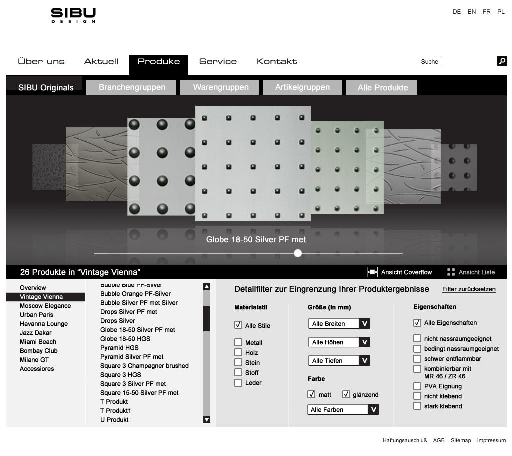 Webdesign for a Homedesign Company
