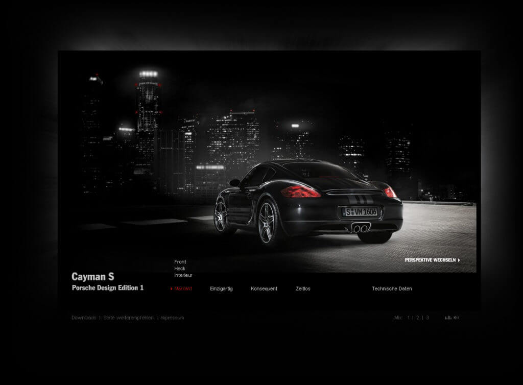 Animation and Webprogramming for Porsche