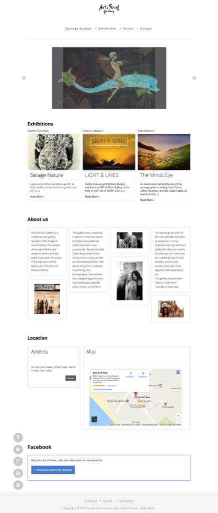 Webdesign for an Art Gallery: http://www.galleryartandsoul.com