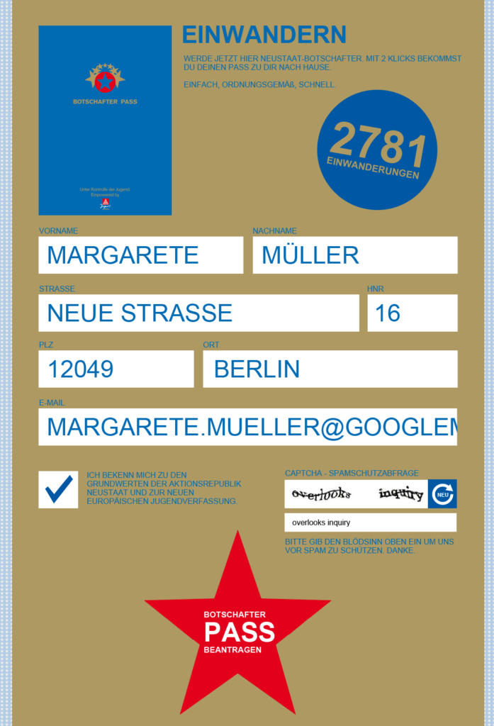 Webdesign for a Campaign of IGMJ (german youth union)