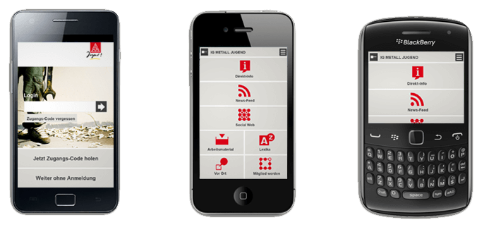 APP Design for IGMJ (youth union) for iPhone and Android