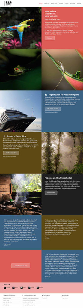 Webdesign and wordpress www.costaricacaribetours.com