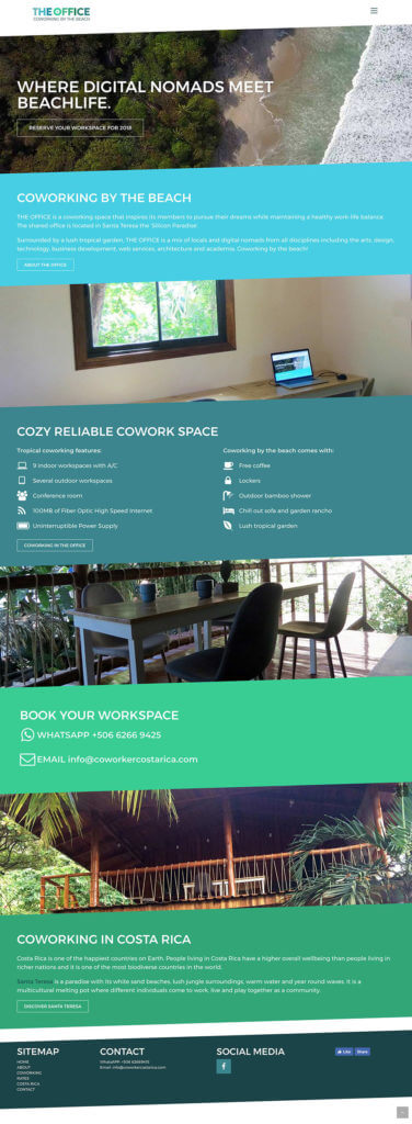Webdesign and wordpress www.coworkercostarica.com