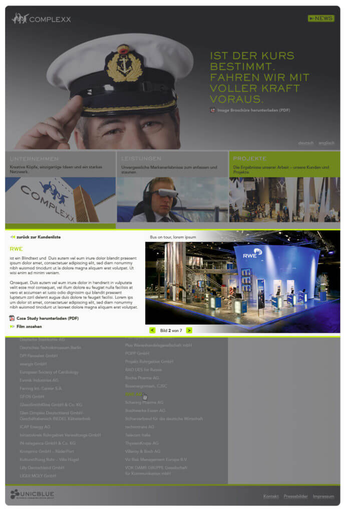 Webdesign for a fair construction company