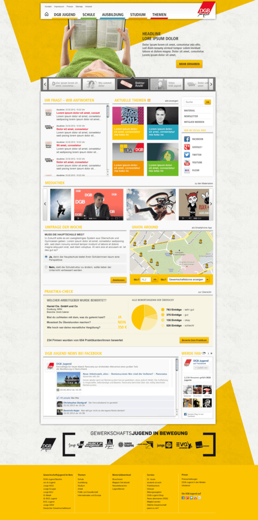 Webdesign for DGB (german youth union)