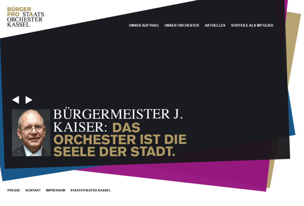 Webdesign for an Orchestra in Kassel